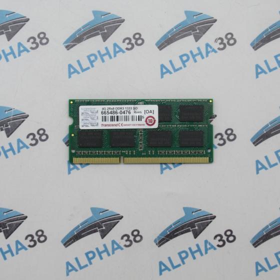 Transcend 4GB DDR3-1333 CL9 SO-DIMM 2Rx8 4GB (1 x 4GB)
